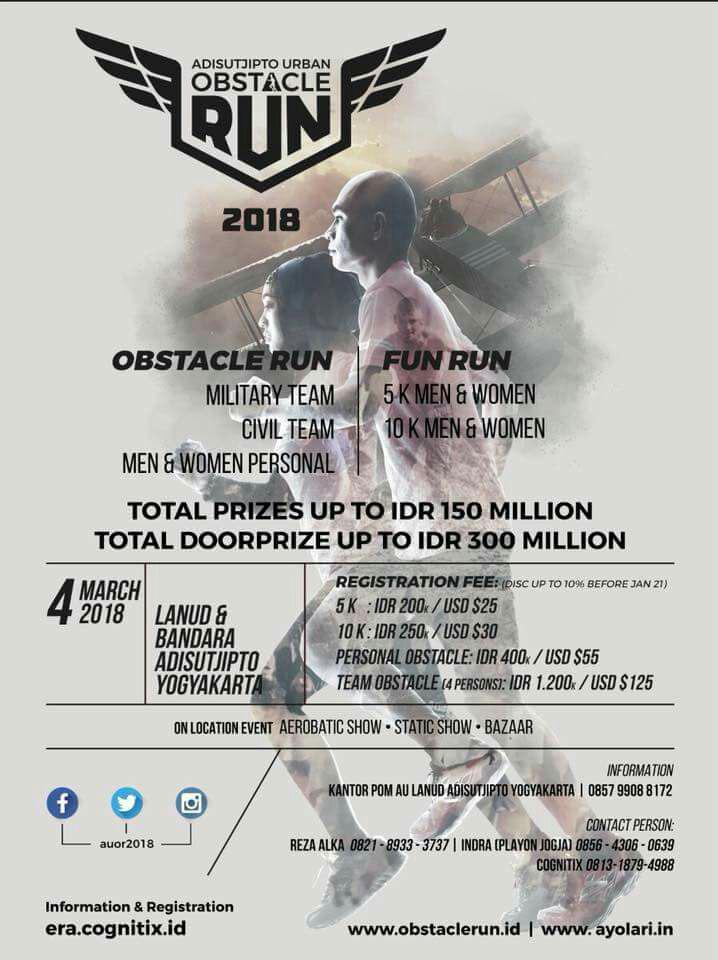 Adisutjipto Urban Obstacle Run 2018